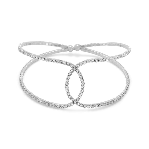 Crystal Fashion Flex Cuff Bracelet
