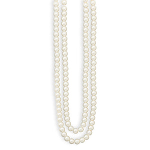 Endless Simulated Pearl Fashion Necklace and Earring Set