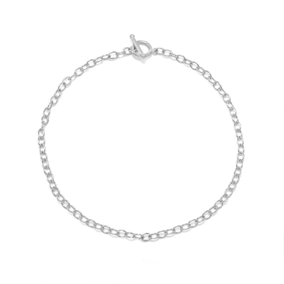 Silver Plated Toggle Fashion Choker