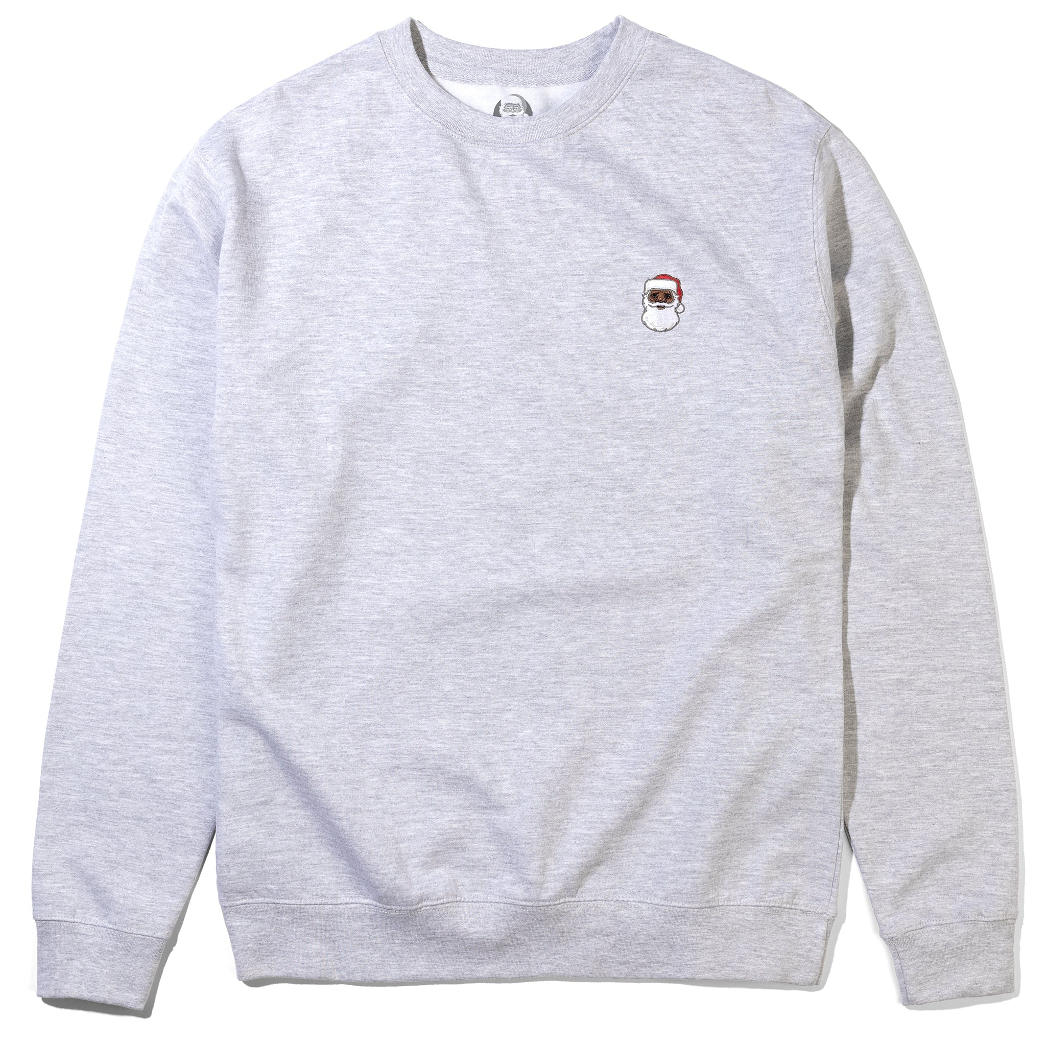 Embroidered Portrait Crewneck Heather Grey Image  #1