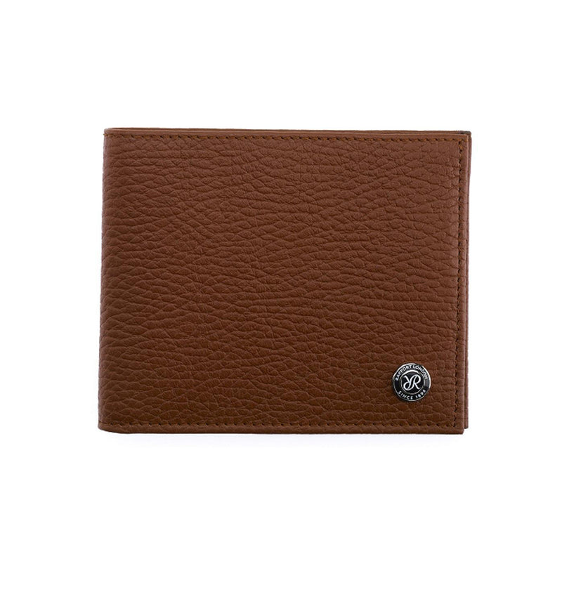 Rapport-Mens-Berkeley Two Tone Leather Billfold Wallet-Tan Cream