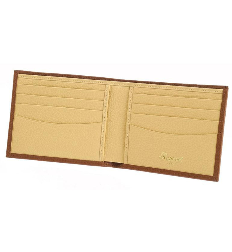 Rapport-Mens-Berkeley Two Tone Leather Billfold Wallet-