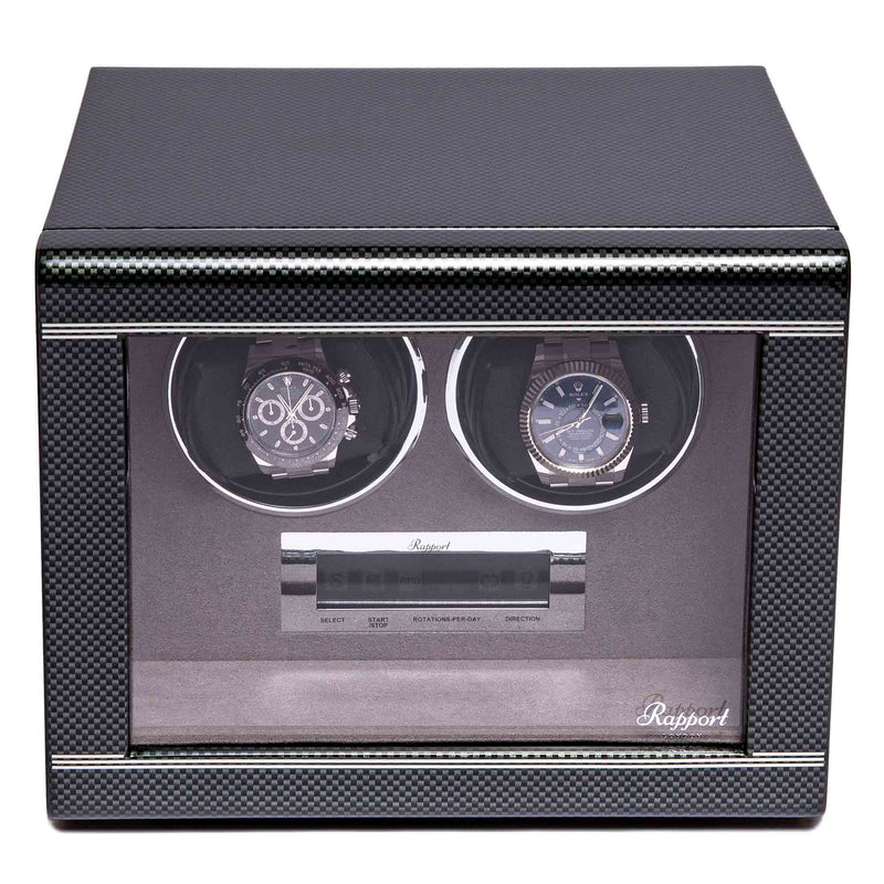Rapport-Watch Winder-Formula Duo Watch Winder-Carbon Fibre
