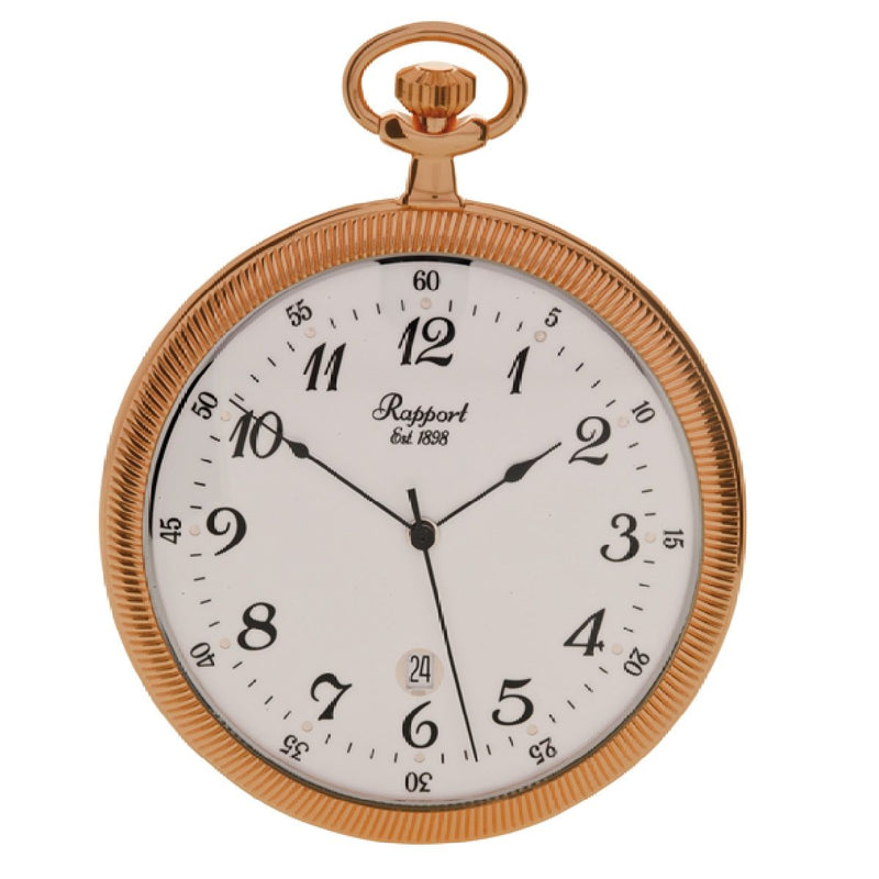 Rapport-Watch Accessories-Slim Open Face Pocket Watch-Rose Gold