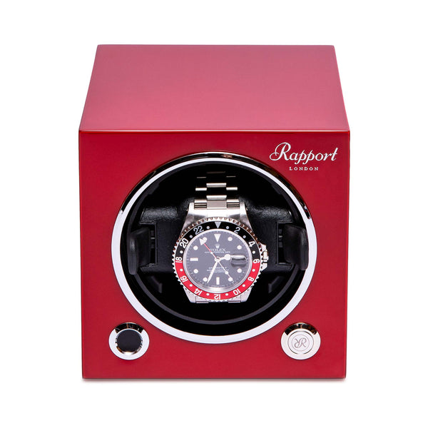 Rapport-Watch Winder-Evo Single Watch Winder-Crimson Red