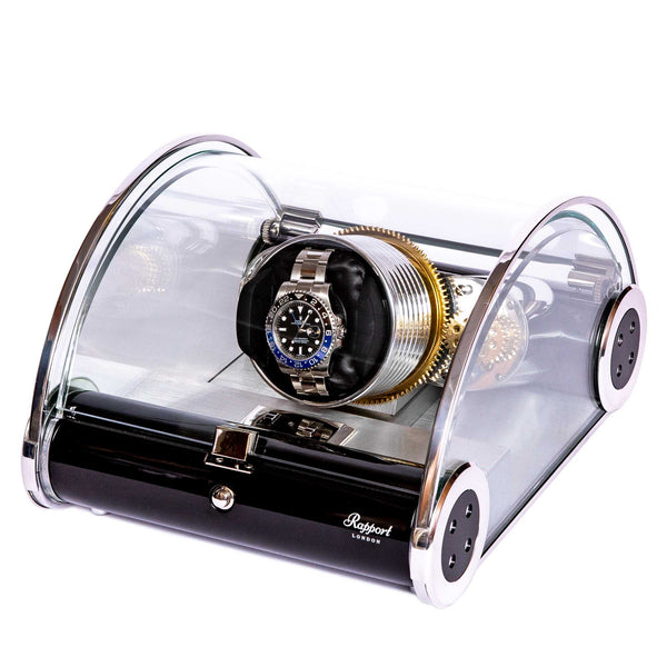 Rapport-Watch Winder-Time Arc Mono Watch Winder-Glass