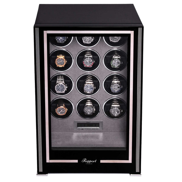 Rapport-Watch Winder-Paramount Twelve Watch Winder-Ebony