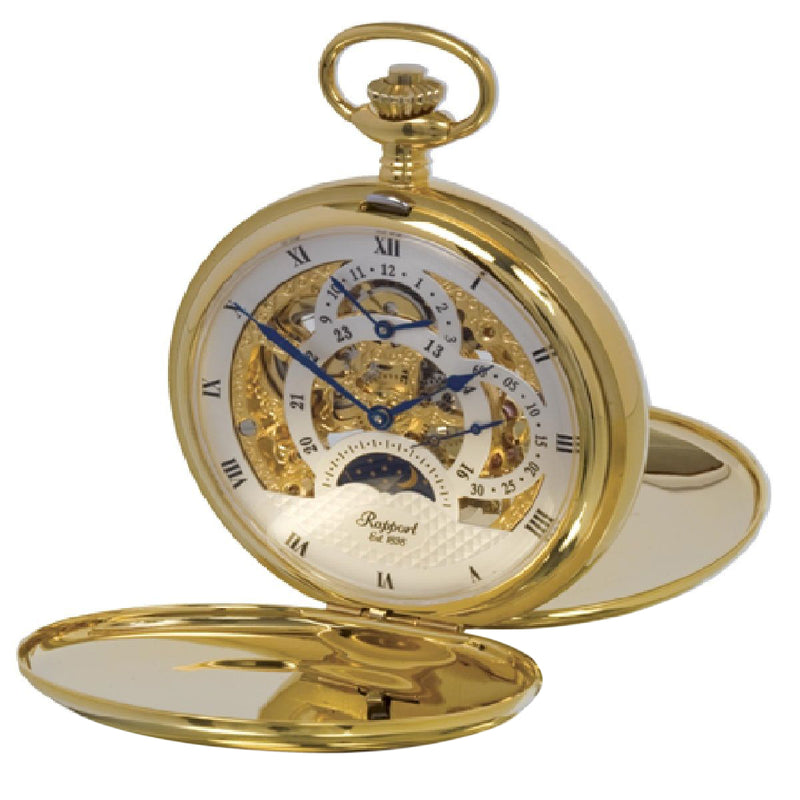 Rapport-Watch Accessories-Double Opening Hunter Pocket Watch-Gold