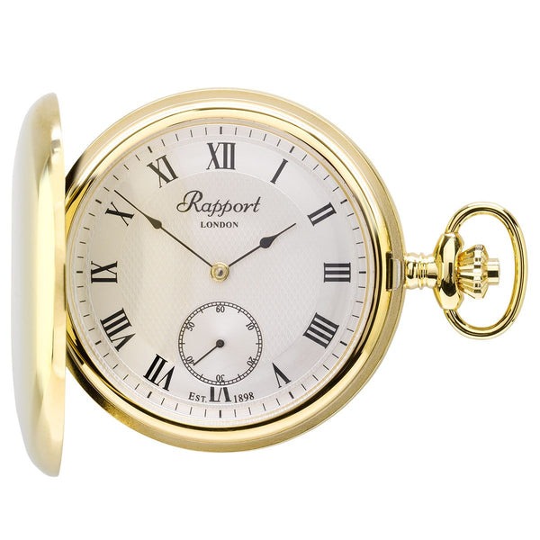 Rapport-Watch Accessories-Mechanical Full Hunter Pocket Watch-Gold