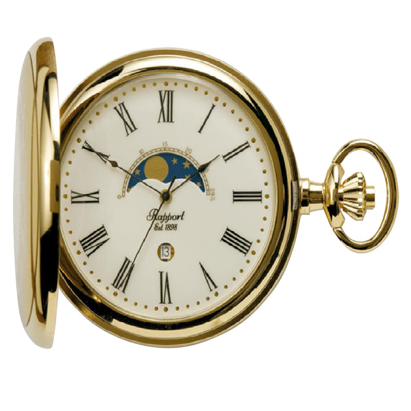 Rapport-Watch Accessories-Half Hunter Pocket Watch-Gold