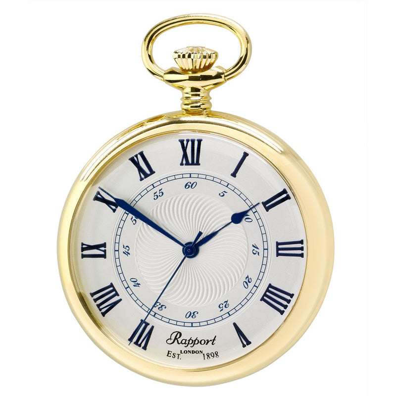 Rapport-Watch Accessories-Quartz Open Face Pocket Watch 48mm-Gold