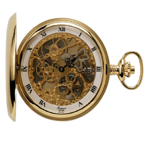 Rapport-Watch Accessories-Double Hunter Pocket Watch Gold Plated-