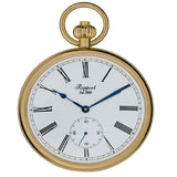 Rapport-Watch Accessories-Open Face Gold Plated Pocket Watch 52mm-