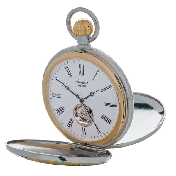 Rapport-Watch Accessories-Double Opening Full Hunter bi-colour Pocket Watch-