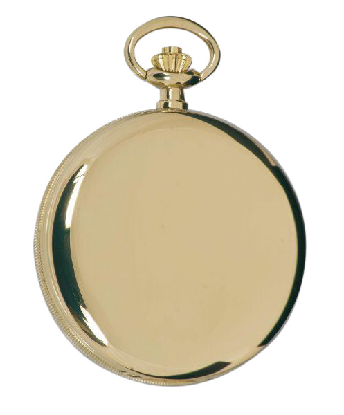 Rapport-Watch Accessories-Quartz Full Hunter Gold Plated Pocket Watch with Champagne Dial-