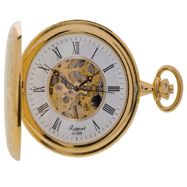 Rapport--Full Hunter Pocket Watch 50mm-Gold