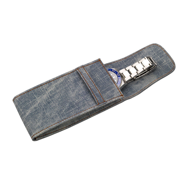 Rapport-Watch Accessories-Single Watch Pouch Stone Washed-