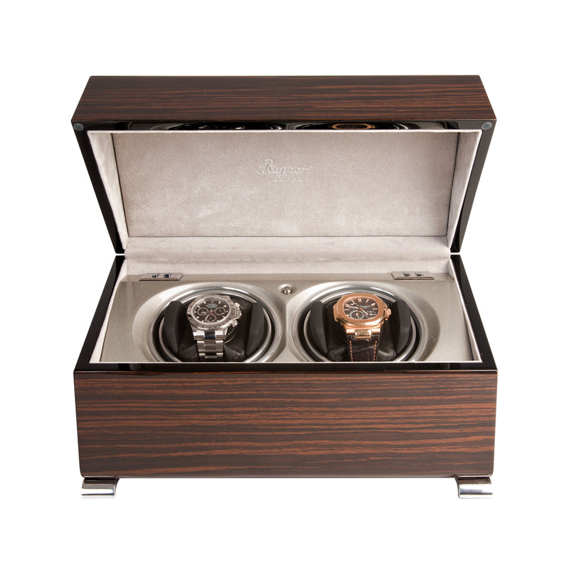 Rapport-Watch Winder-Vogue Duo Watch Winder-Macassar
