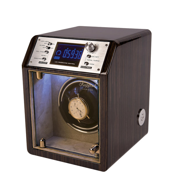 Rapport-Watch Winder-Cosmic Single Watch Winder-Macassar Wood