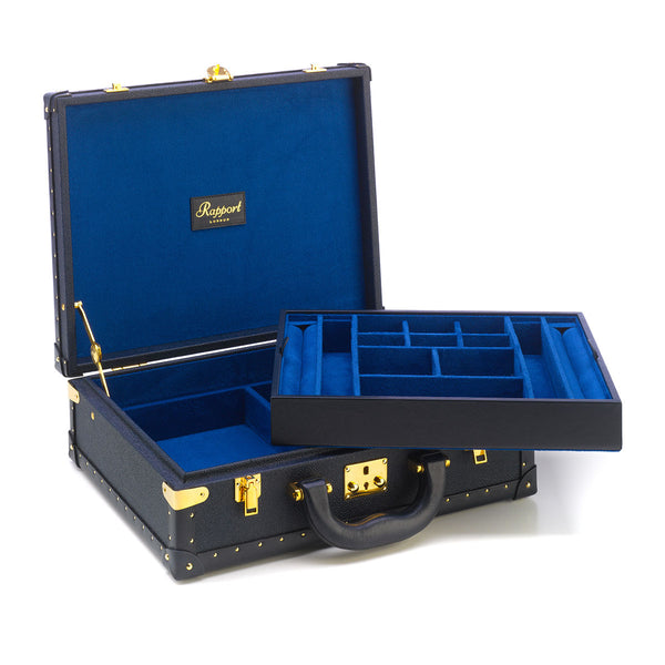 Rapport-Ladies-Navy Blue Studded Jewellery Case-