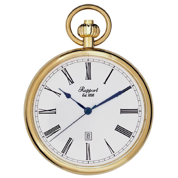 Rapport-Watch Accessories-Quartz Open Face Pocket Watch 52mm-Gold
