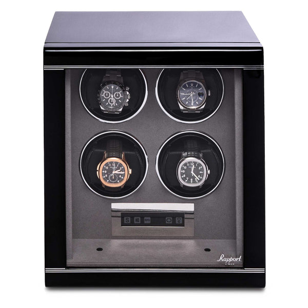 Rapport-Watch Winder-Formula Quad Watch Winder-Black