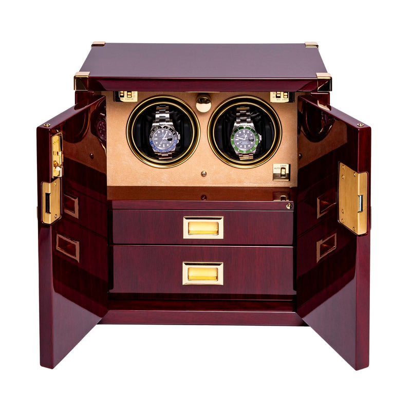 Rapport-Watch Winder-Two Watch Mariners Chest-Mahogany