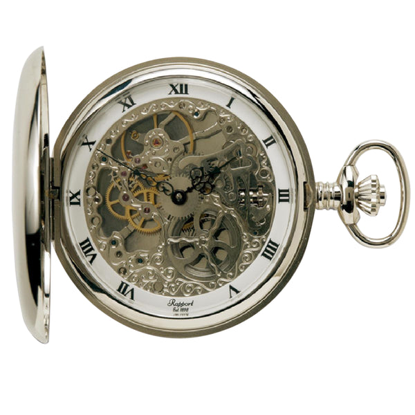 Rapport-Watch Accessories-Full Hunter Pocket Watch 52mm-Silver