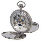 Rapport-Watch Accessories-Double Opening Hunter Pocket Watch-Silver