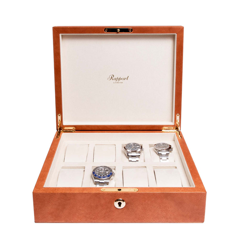 Rapport-Watch Box-Vintage Eight Watch Box-Tan