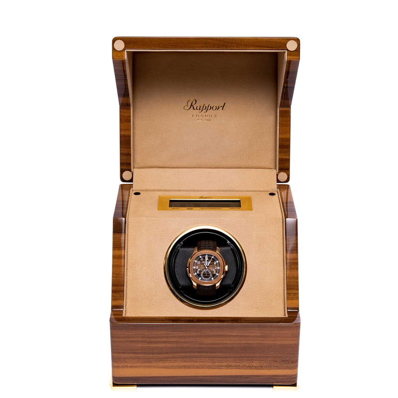 Rapport-Watch Winder-Perpetua III Single Watch Winder-Walnut