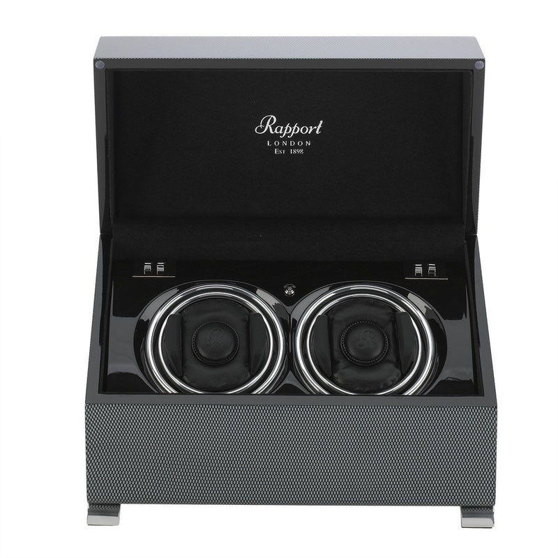 Rapport-Watch Winder-Vogue Duo Watch Winder-Carbon Fibre