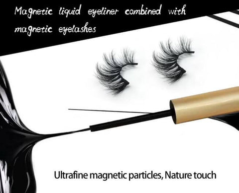 Magnetic Eyeliner & False Mink Eyelash Set - elferiah.com