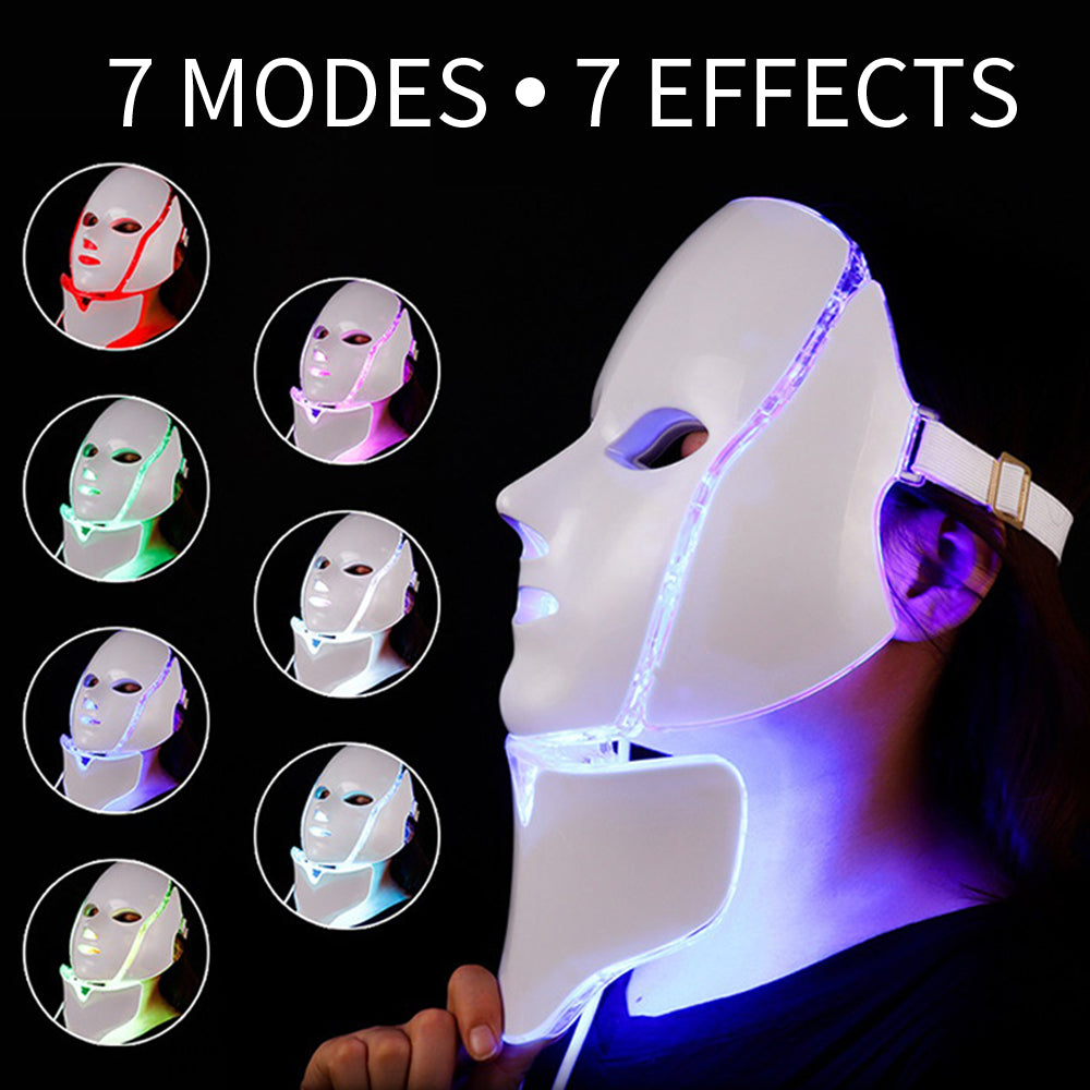7 Color LED Face Mask To Rejuvenate Your Skin - elferiah.com