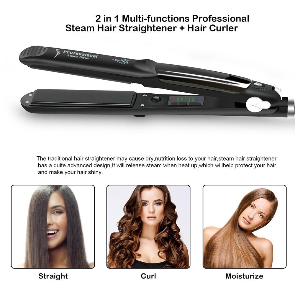 Ceramic Tourmaline Ionic Flat Hair Straightener - elferiah.com