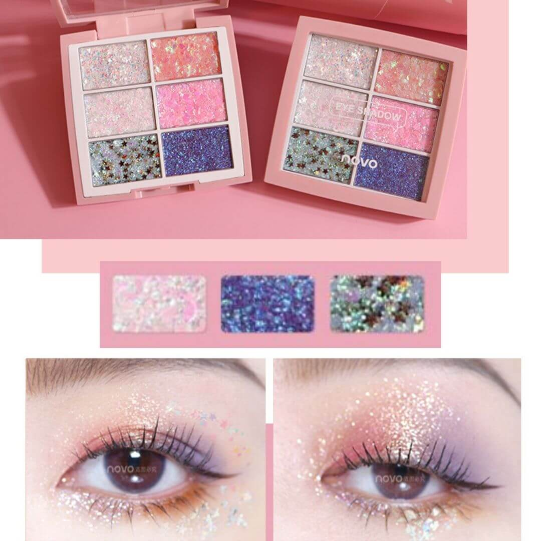 Sequin Eyeshadow Cream Pallet - elferiah.com