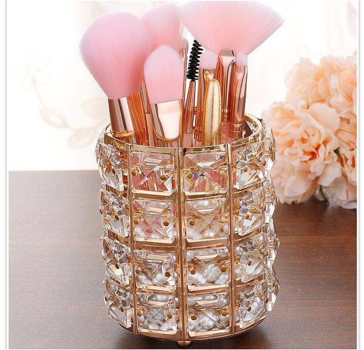 Crystal Makeup Brush Holder - elferiah.com