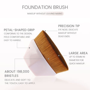 Petal Foundation Brush - elferiah.com