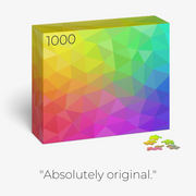 Pre-order the COLOR Series — 1,000-piece Tessellated Triangles Color Jigsaw Puzzle - Blue Kazoo