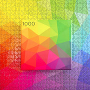 1,000-piece Tessellated Triangles Color Jigsaw Puzzle