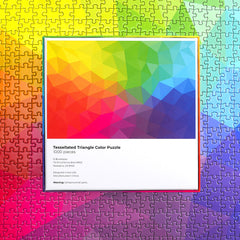 The COLOR Series — 1,000-piece Tessellated Triangles Color Jigsaw Puzzle