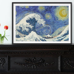 STARRY WAVE — 1,000-piece Jigsaw Puzzle Featuring 'Starry Night' and 'The Wave'
