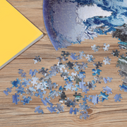 Pre-order from the Earth Series: 1,000-piece Circle Earth Jigsaw Puzzles - Blue Kazoo