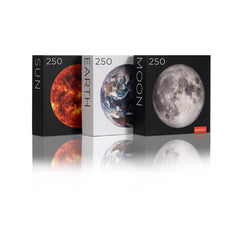 The MINI EARTH Series – 250-piece Circle Earth, Moon, and Sun Jigsaw Puzzles