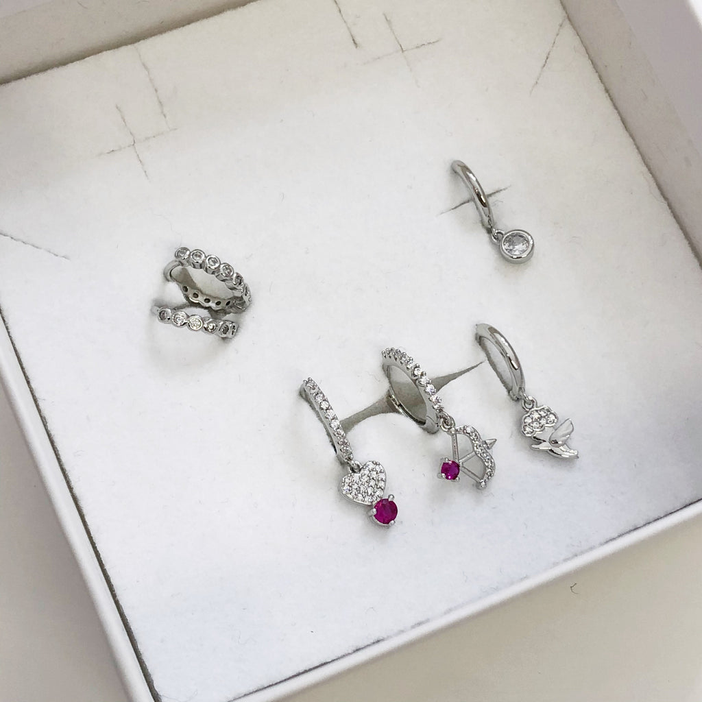 Set cupido mini hoops