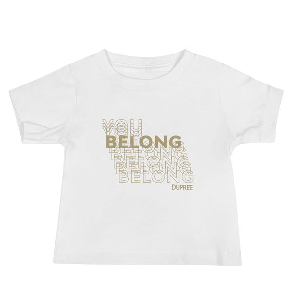 Baby Jersey Short Sleeve Tee - White - YOU BELONG