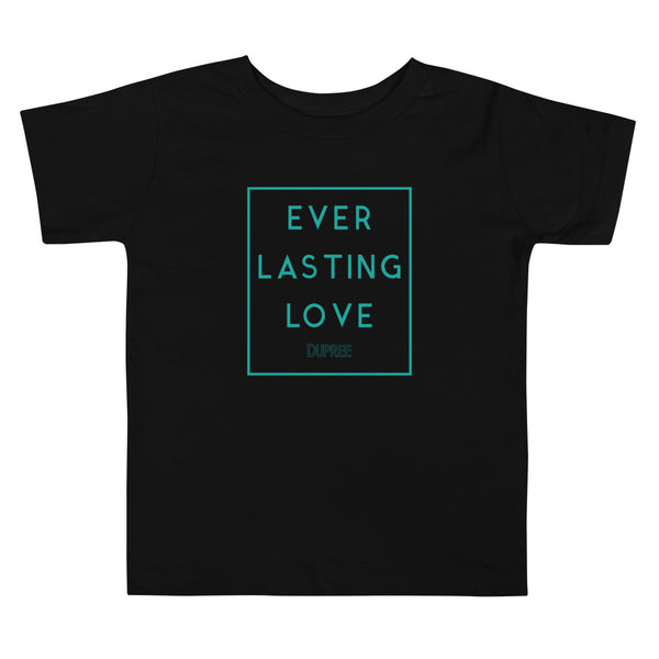 Toddler Short Sleeve Tee - Black - EVERLASTING LOVE