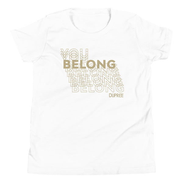 Youth Short Sleeve T-Shirt - White - YOU BELONG
