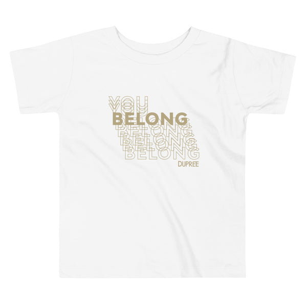 Toddler Short Sleeve Tee - White - YOU BELONG