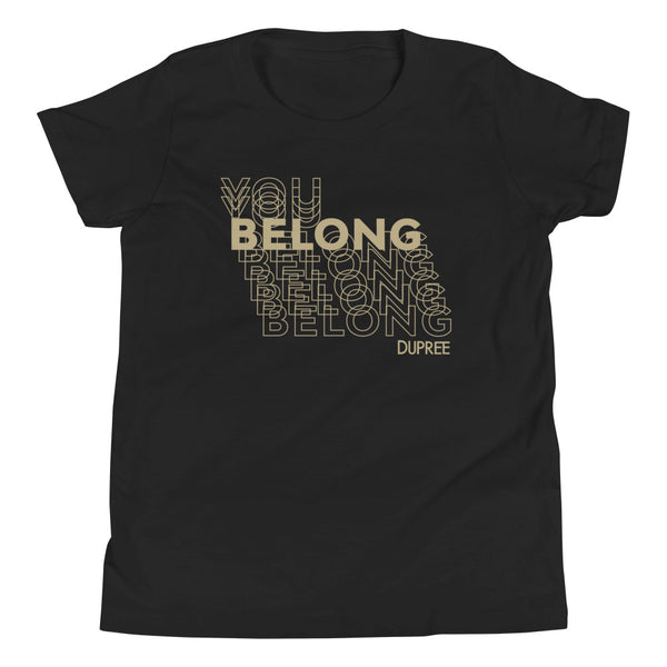 Youth Short Sleeve T-Shirt - Black - YOU BELONG